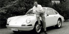 Ferry Porsche et la Porsche 901 en 1963