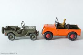 Dinky Toys réf.340 et 24M - Land Rover et Jeep