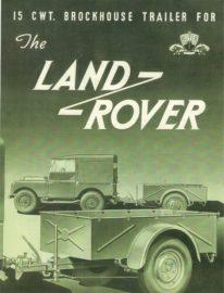 Publicité Land Rover et remorque