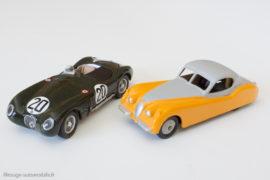 Jaguar XK 120 - Dinky Toys GB réf. 157 & Jaguar XK 120 Type C vainqueur Le Mans 1951 - IXO