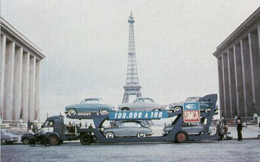 Porte auto Renault / Boilot Société - Opération Simca 100 000 à 100