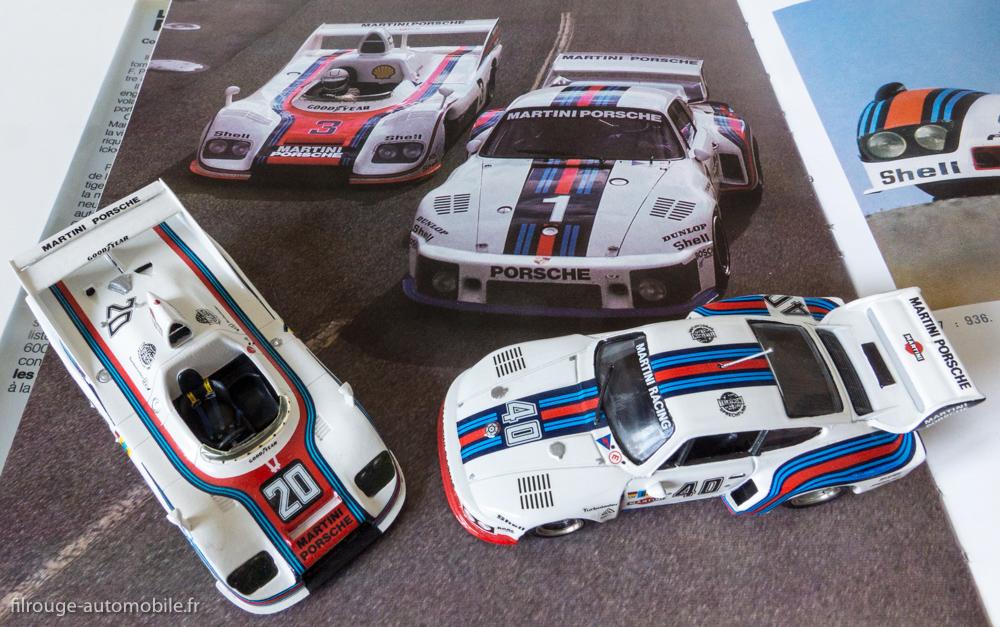 Porsche 935 et Porsche 936 de 24 heures du Mans 1976 (Solido et Starter) sur le livre La Réussite Porsche (EPA)