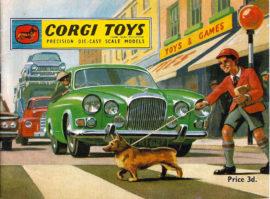 Couverture du catalogue Corgi Toys 1963 avec Jaguar Mark X réf. 238
