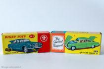 Jaguar Mark X - Boites Corgi Toys 238 & Dinky Toys 142