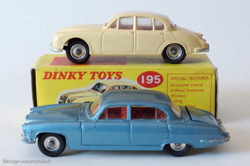 Jaguar Mark X - Dinky Toys réf. 142 & Jaguar MK 2 - Dinky Toys réf. 195
