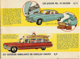 Catalogue 1963 Corgi Toys avec Jaguar Mark X réf. 238