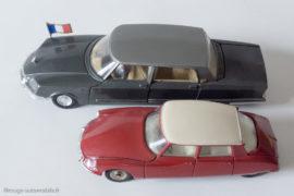 Dinky Toys réf. 1435 et 530 - Citroën DS Présidentielle et DS 23 au 1/43ème