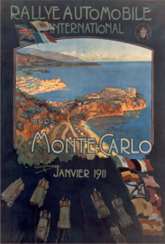 Première affiche du Rallye de Monte Carlo 1911
