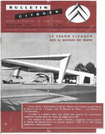 Stand Citroën auxles 24 Heures du Mans 1959 avec la gagante du Monte Carlo