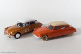 Citroën ID 19 vainqueur du Rallye de Monte Carlo 1959 - Ixo/Altaya avec DS 19 Dinky Toys