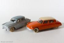 Citroën DS et Simca Aronde Dinky Toys, modèles 1er et 2ème du Monte Carlo 1959