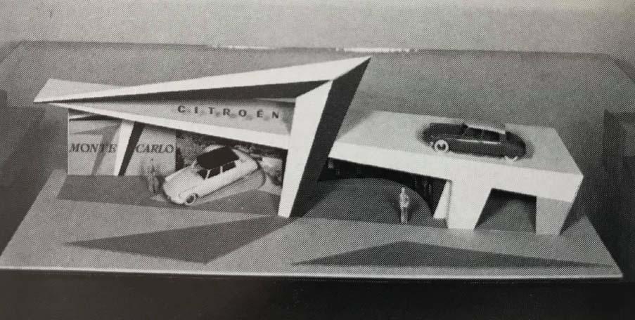 Maquette Citroën pour les 24 Heures du Mans 1959 avec 2 DS Dinky Toys