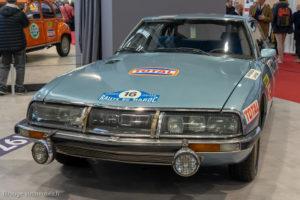 Rétromobile 2019 - Citroën SM rallye du Maroc 1971
