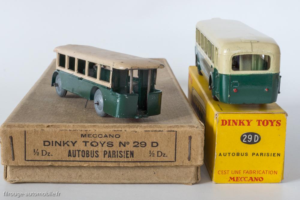 Autobus Parisien - Dinky Toys 25D et 25d