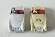 Austin Healey 100 DInky Toys anglais réf. 109 et français réf. 546