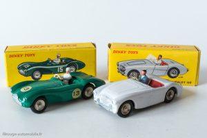 Austin Healey 100 et Aston Martin DB3 DInky Toys réf. 546 et réf. 506