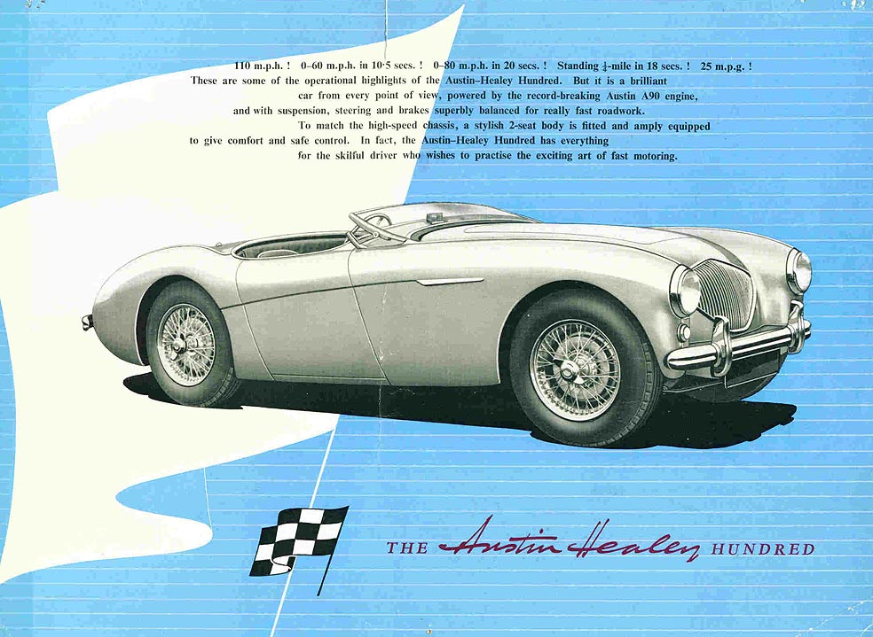 Catalogue Austin Healey 100 (crédit club Austin Healey)