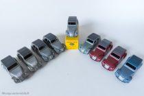Citroën 2 CV A - Dinky Toys 24 T - les 5 variantes - la plupart des couleurs