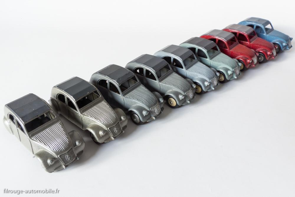 Citroën 2 CV A - Dinky Toys 24 T - les 5 variantes