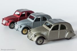 Citroën 2 CV A - Dinky Toys 24 T - variantes 1, 3 et 5