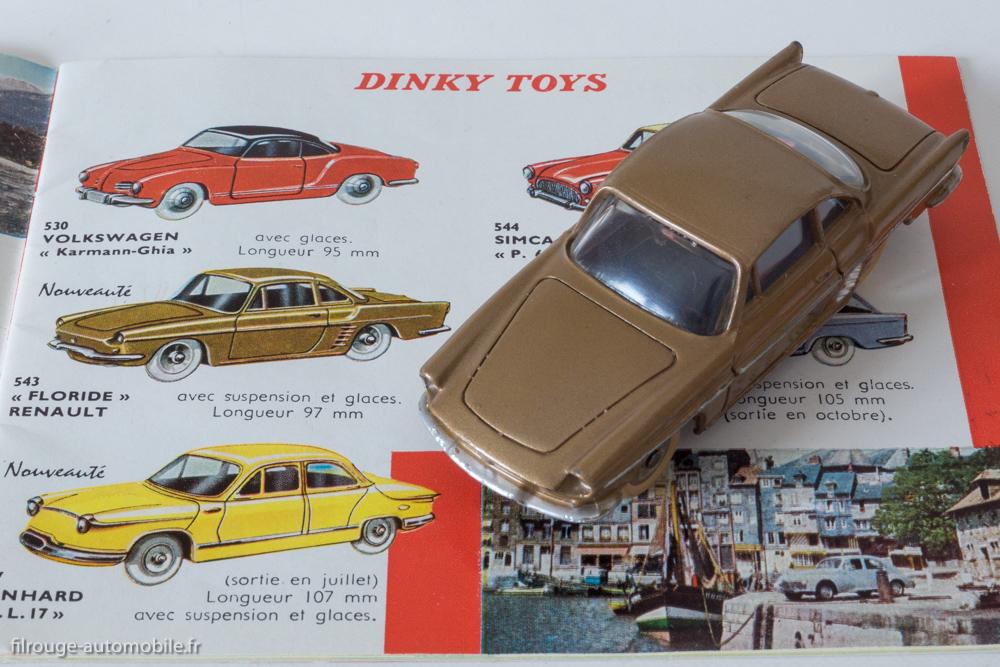 Renault Floride coupé Dinky Toys réf. 543 sur catalogue 1960