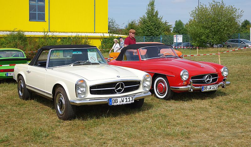 Mercedes Benz 230 SL et 190 SL (crédit Wikipédia)