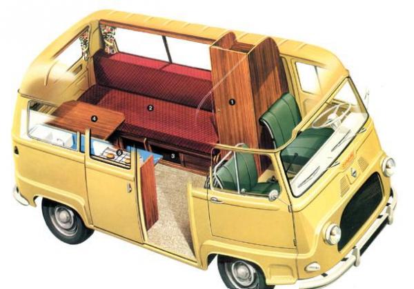Estafette camping - vue éclatée - Catalogue Renault