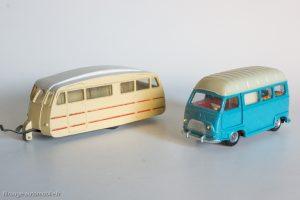 Dinky Toys réf. 811 & 565 - Caravane Henon et Renault Estafette camping