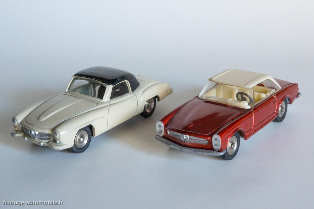 Mercedes Benz 190 SL et 230 SL - Dinky Toys réf. 24 H et 516