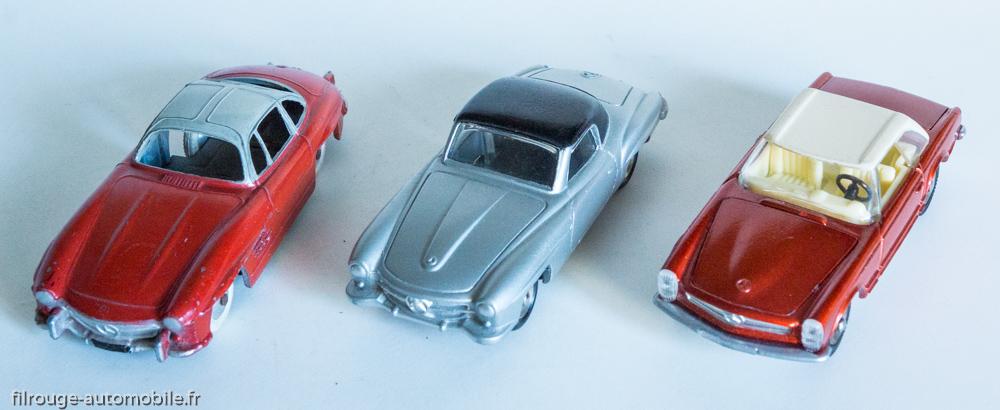 Mercedes Benz 300SL Quiralu, 190 SL et 230 SL Dinky Toys réf. 24 H et 516