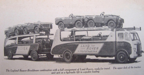 Transporteur Land Rover - Photo magazine vers 1949