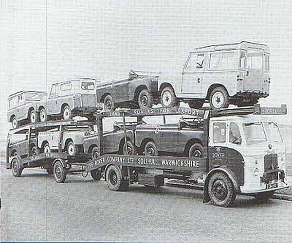 Transporteur Land Rover -Camion Leyland Brevaer avec aménagement différent