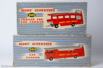 Dinky Toys réf. 984 et 985 - Boites Car Carrier et Trailer for Car Carrier