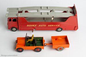 Dinky Toys réf. 984 et 27D - Car Carrier et Land Rover avec sa remorque Brockhouse