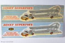 Dinky Toys 39 A et 894 - Tracteur Unic porte voitures Boilot - Boites des 2 numérotations