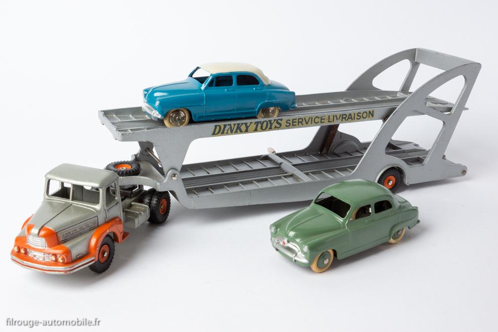 Dinky Toys 894 - Tracteur Unic porte voitures Boilot & Dinky Toys 24U - Simca Aronde berline