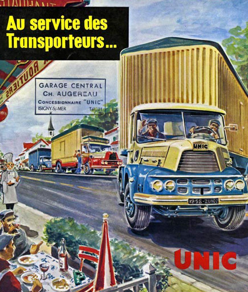 Camion Unic ZU - Publicité