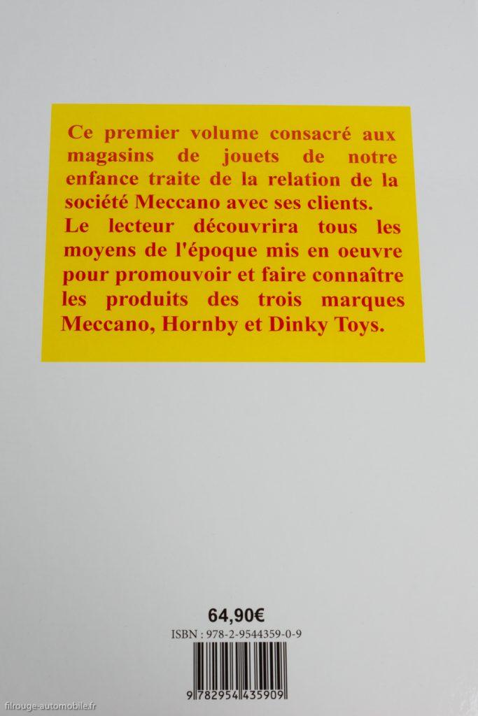 Livre Dinky Toys : La relation Meccano Magasins - 4ème de couverture