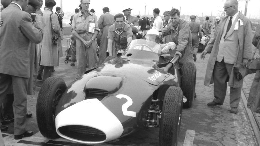 Stirling Moss - Vainqueur du Grand Prix du Portugal 1958 sur Vanwall