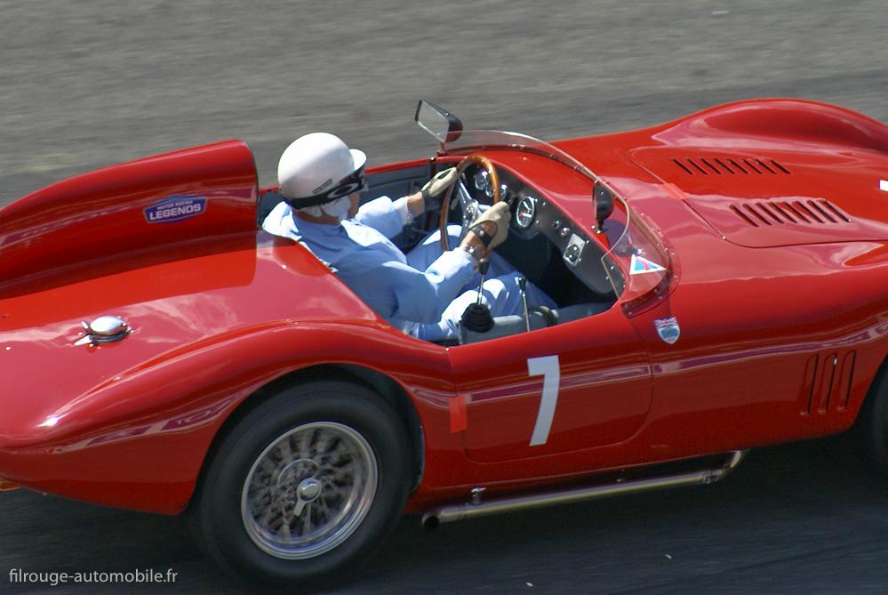 Stirling Moss sur Osca FS372 - Le Mans Legend 2009