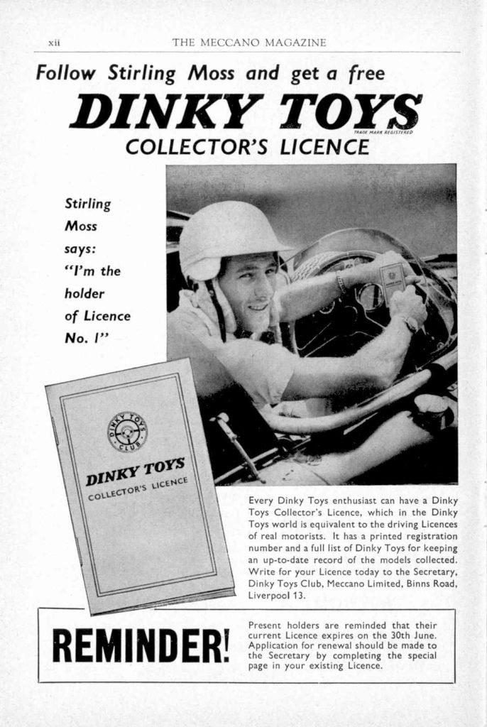 Meccano Magazine mai 1959 - Stirling Moss et le Club
