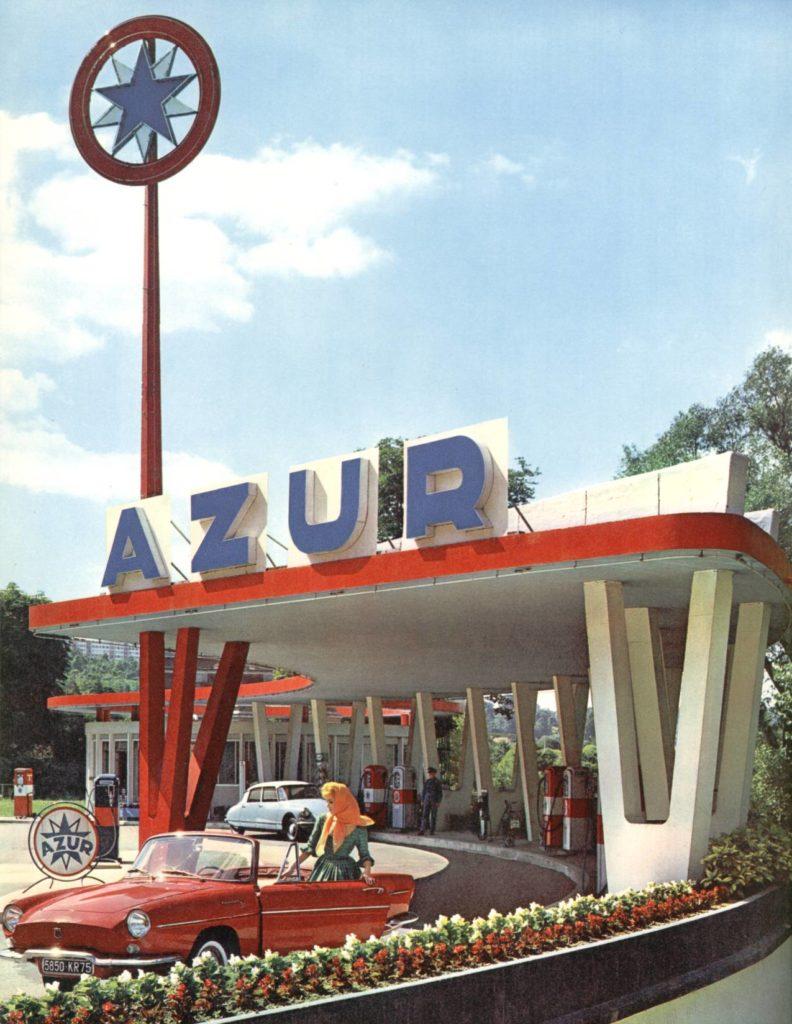 Station-service Azur années 1960