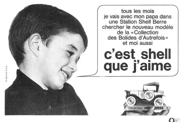Publicité Shell années 1960