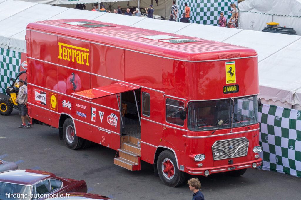 Transporteur Fiat OM Rolfo de la Scuderia Ferrari aux 24 Heures des Mans 1969