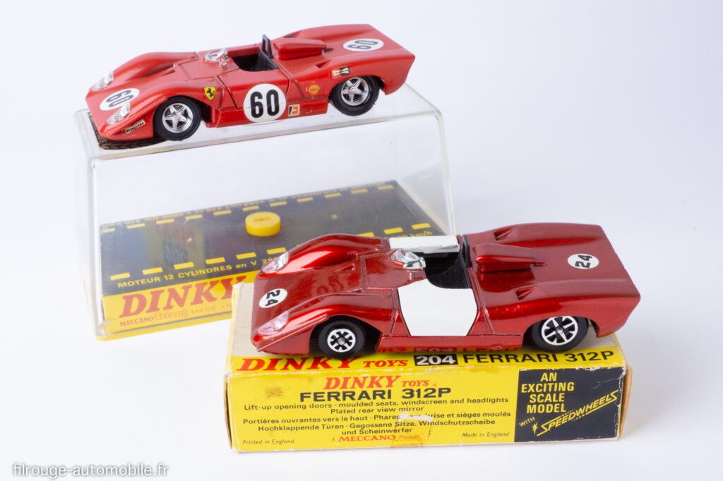 Ferrari 312 P - Dinky Toys ref. 1432 et 204