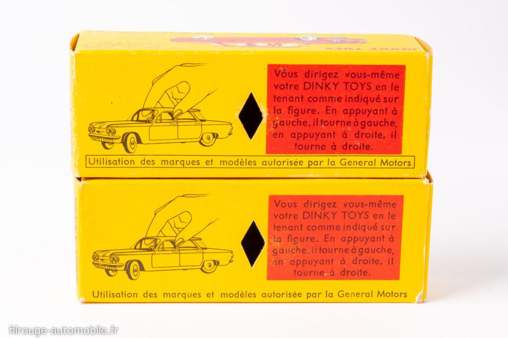 Cevrolet Corvair - Dinky toys réf. 552 - les deux boites