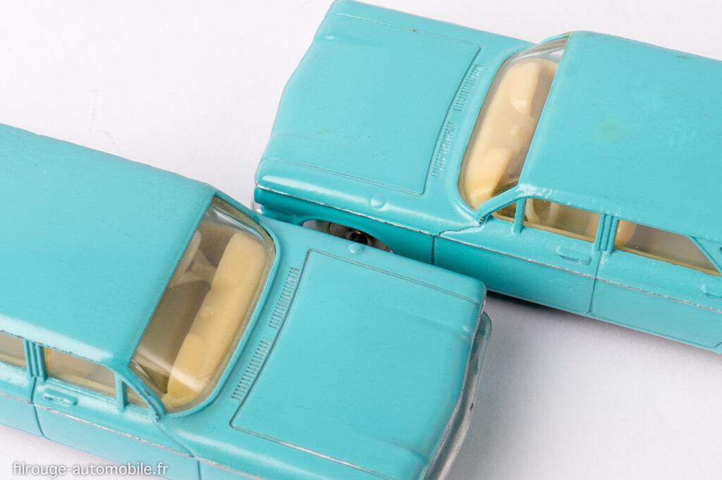 Cevrolet Corvair - Dinky toys réf. 552 - les deux types de bouchon de réservoir