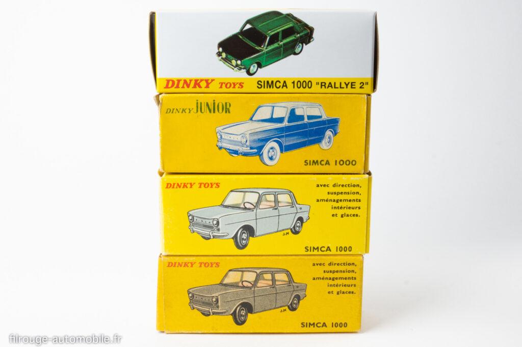 Boites Dinky Toys Simca 1000