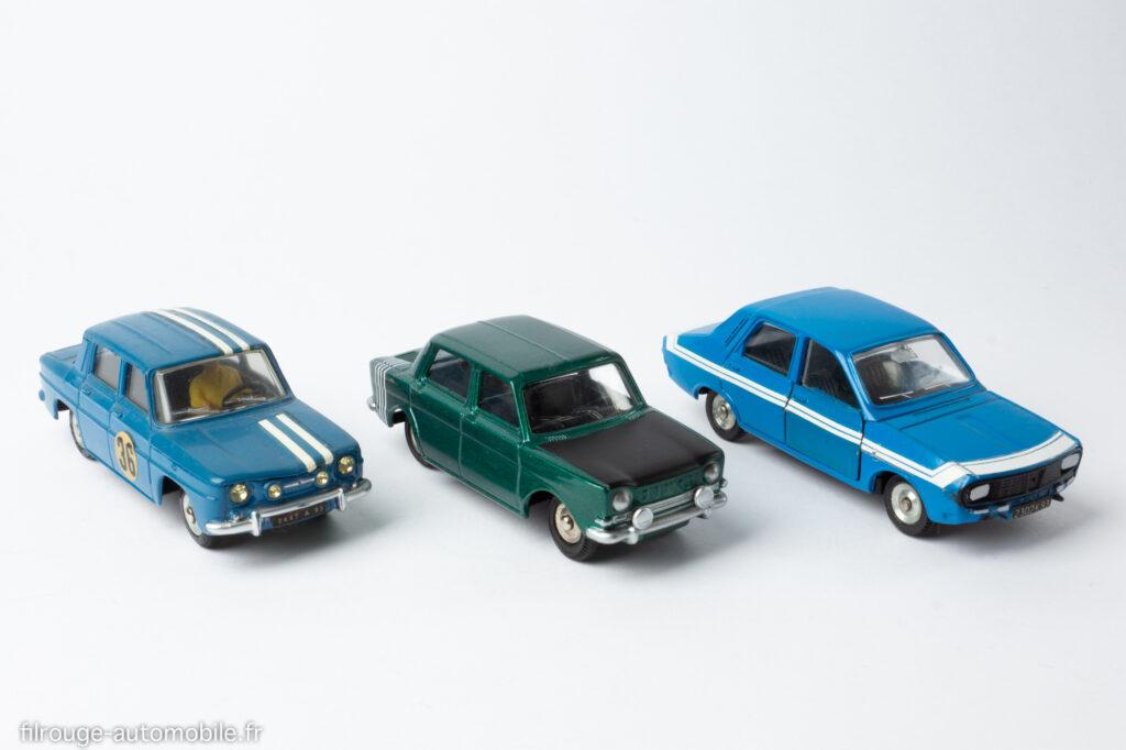 Dinky Toys - Renault 8 et 12 Gordini avec le prototype de la Simca 1000 Rallye 2