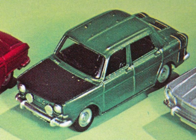Extrait catalogue général Meccano 1975 - Prototype Simca 1000 Rallye 2